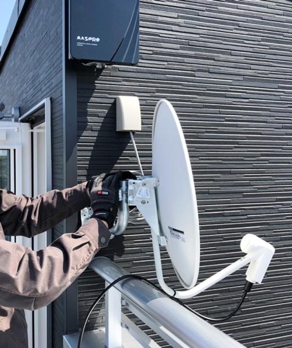 4K・8K放送対応アンテナ使用の新築アンテナ工事