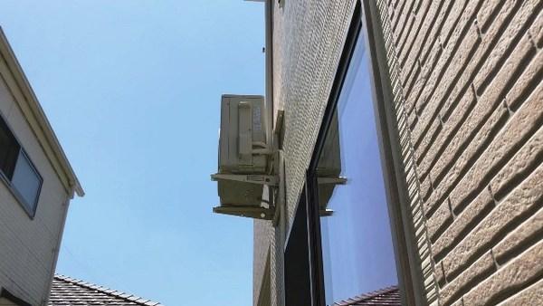 エアコン室外機壁面 流山市