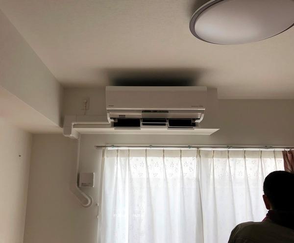 エアコン取付工事 室内化粧カバー工事