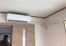 配管隠蔽のエアコン室内機を移動