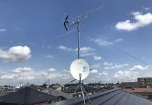 柏市 UHF+BSアンテナ新設