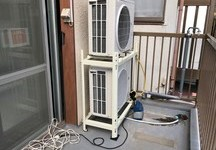 エアコン室外2段置き工事
